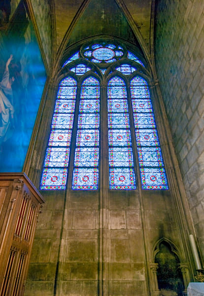 Notre Dame Stained Glass Window II | Travel Photography Print