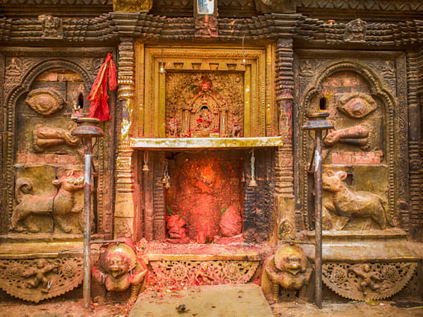 Nepal Hindu Offering | Travel Art Photography Print