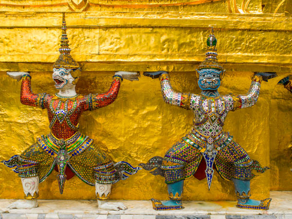 Thai Grand Palace Guards | Travel Art Photography Print