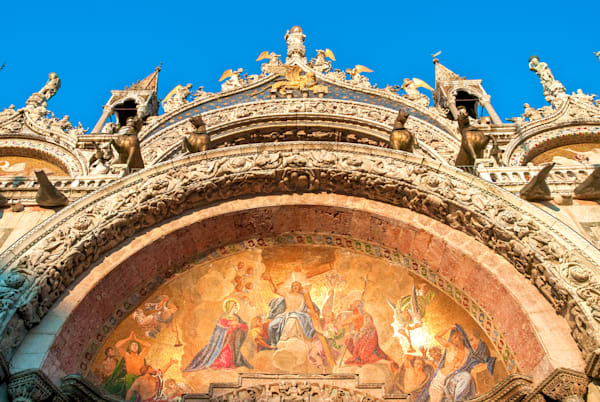 Venice Basilica Relief | Travel Art Photography Print