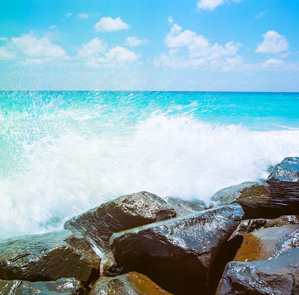 Barbados Caribbean Splash | Tropical Landscape Photography Print
