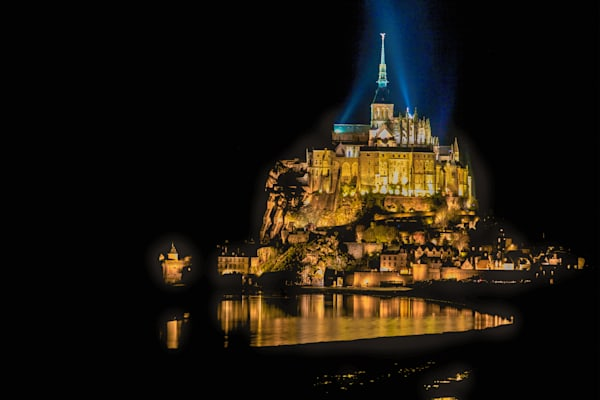 Mont St. Michel Reflection | Travel Photography Print