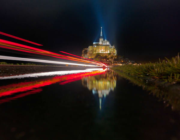 Mont Saint Michel Light Stream | Online Photography Store
