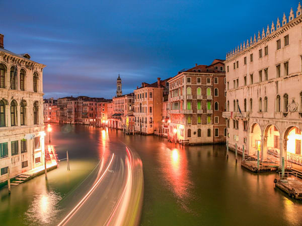Venice Grand Canal Blue Hour | Architecture Photography Print