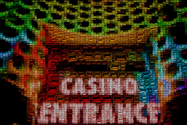 Casino Entrance Photo Mosaic | Photomosaic Photography