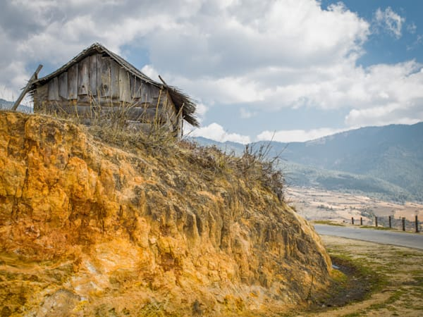 Bhutan Barn With A View | Mountain Landscape Photography Print