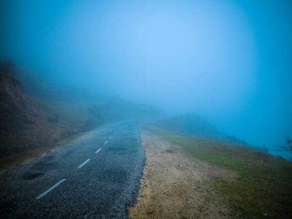 Road Into the Blue Mist | Nature Art Photography