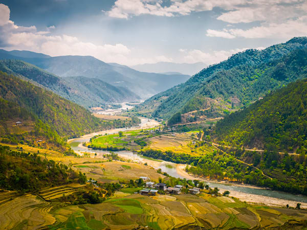 Punakha Valley | Mountain Landscape Photography Print