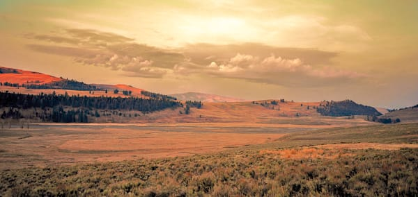 Yellowstone Sunrise | Mountain Landscape Photography Print