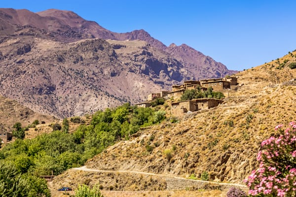 Morocco Hillside Mountain Village | Mountain Landscape Photography Print