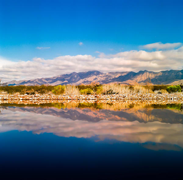 Sunny Franklin Mountains Reflection | Southwest Landscape Photography Print