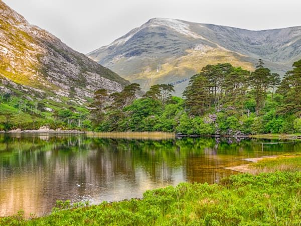 Irish Mountainside Reflection | Mountain Landscape Photography Print