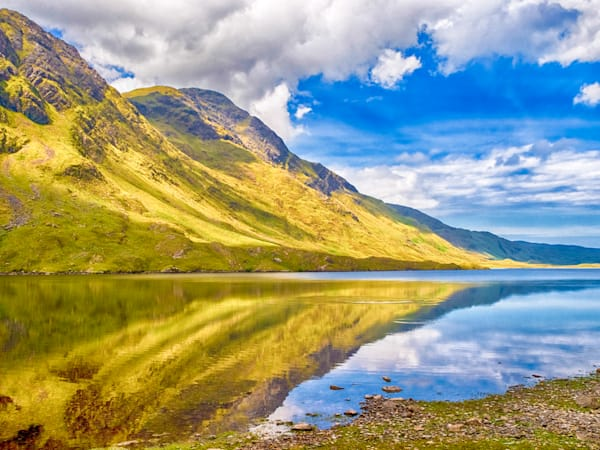 Irish Mountainside Reflection II | Mountain Landscape Photography Print