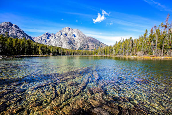 Wyoming Mountain Crystal Clear Lake | Mountain Landscape Photography Print
