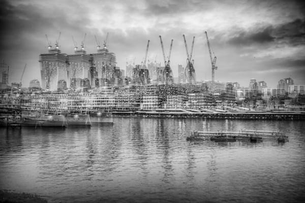 Cranes In The City Multiple Exposure | Online Art Photography Store