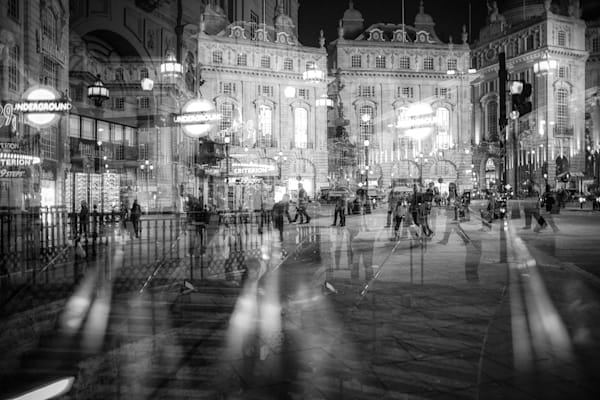 Piccadilly Circus Multiple Exposure | Online Art Photography Store