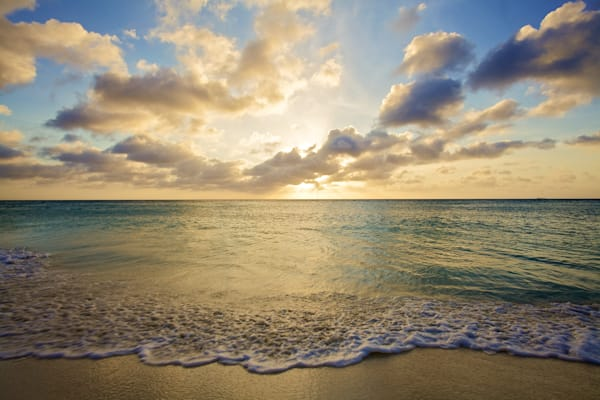 Aruba Beach At Sunset | Tropical Landscape Photography Print