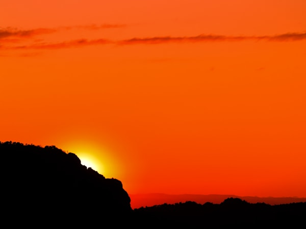 Brilliant Mountain Sunset II | Sunset Photography Print