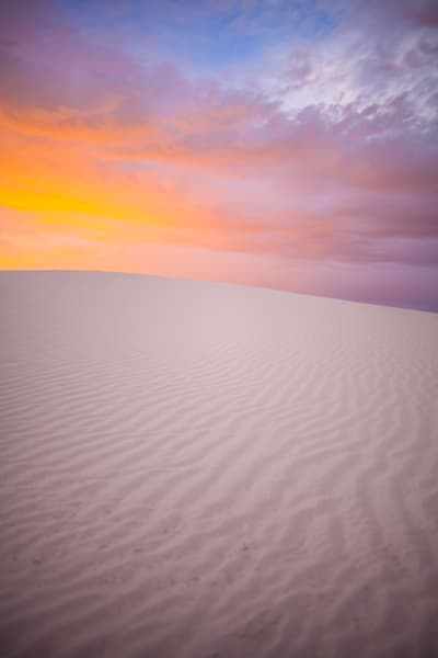 White Sands Sunset | Sunset Photography Print