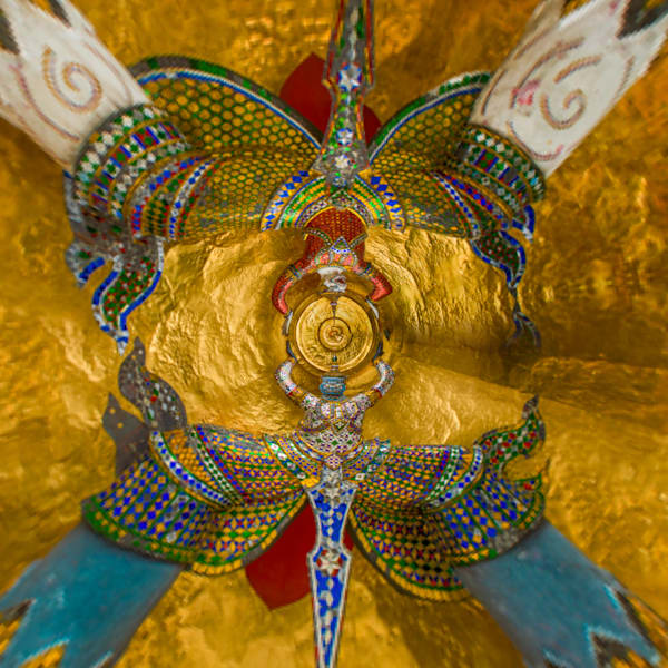 Thai Guards | Tiny Planet Art Photography