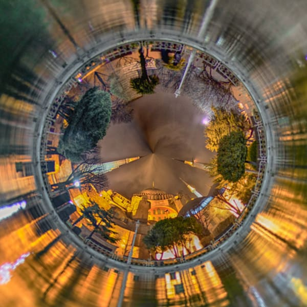 Hagia Sofia | Tiny Planet Art Photography