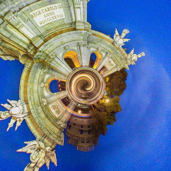 Madrid Spain III | Tiny Planet Art Photography
