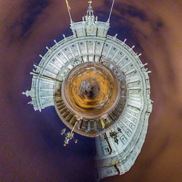 Madrid Royal Palace | Tiny Planet Art Photography