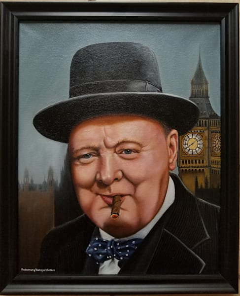Winston Churchill Art | Vasquez Art