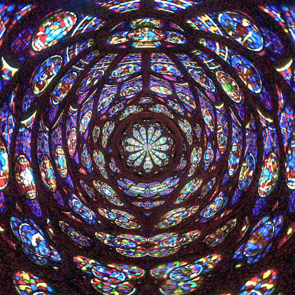 Notre Dame Stained Glass | Tiny Planet Art Photography