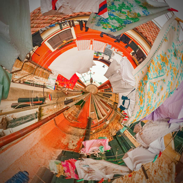 Venice Laundry | Tiny Planet Art Photography