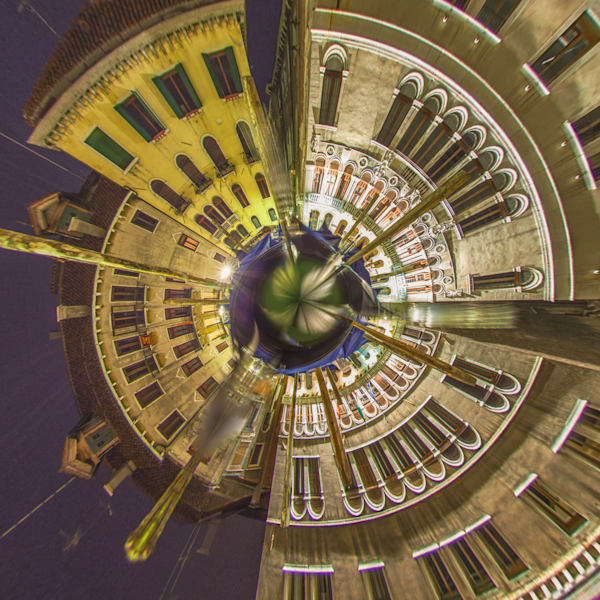 Grand Canal Venice | Tiny Planet Art Photography