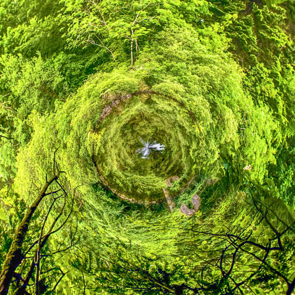 Cong Abbey Lake | Tiny Planet Art Photography