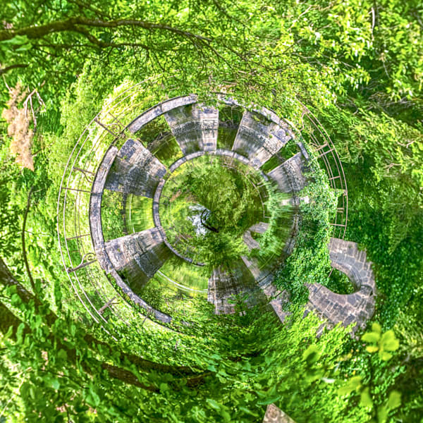 Cong Abbey Bridge | Tiny Planet Art Photography