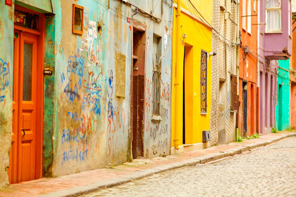 Istanbul Street Color | Urban Art Photography Print