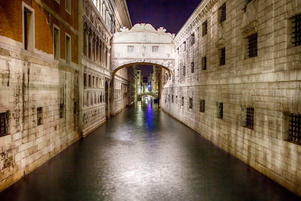 Moonlit Bridge of Sighs | Urban Art Photography Print