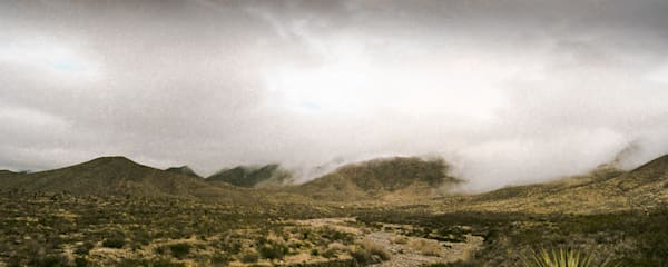 Cloudy Franklin Mountains