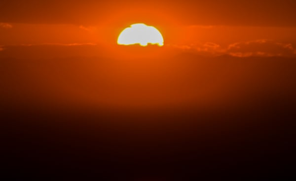 Orange Sun Behind The Mountains | Sunset Photography Print