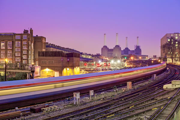 Battersea Power & Gatwick Express | London Art Photography Print