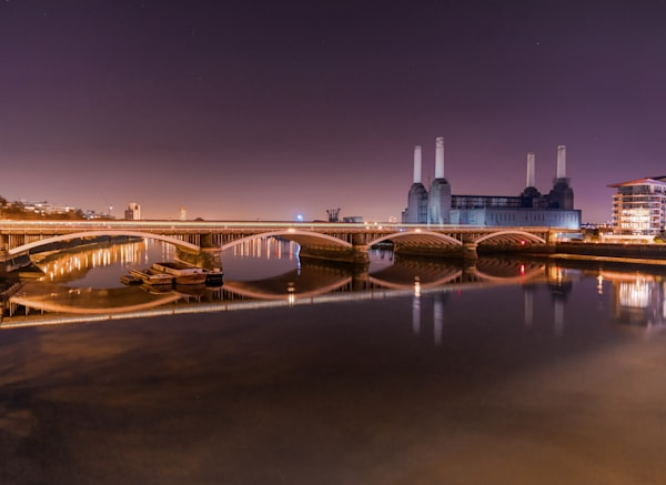 Battersea Power Station & The Rail Bridge | London Art Photography Print