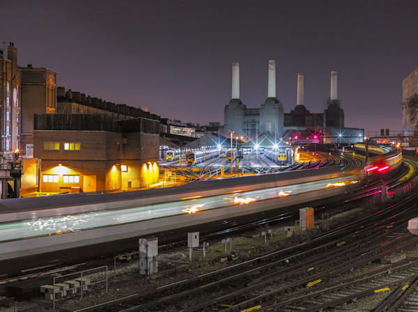 Night Train To Battersea Power | London Art Photography Print