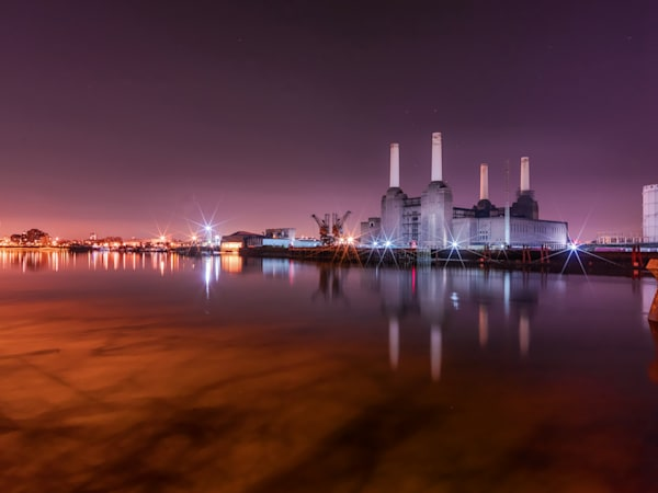 Battersea Power Station Reflection | London Art Photography Print