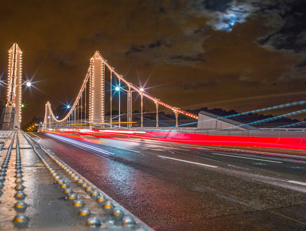 Chelsea Bridge Light Stream | London Art Photography Store