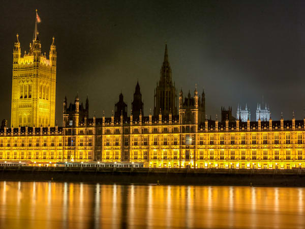 Golden Westminster | London Art Photography Print
