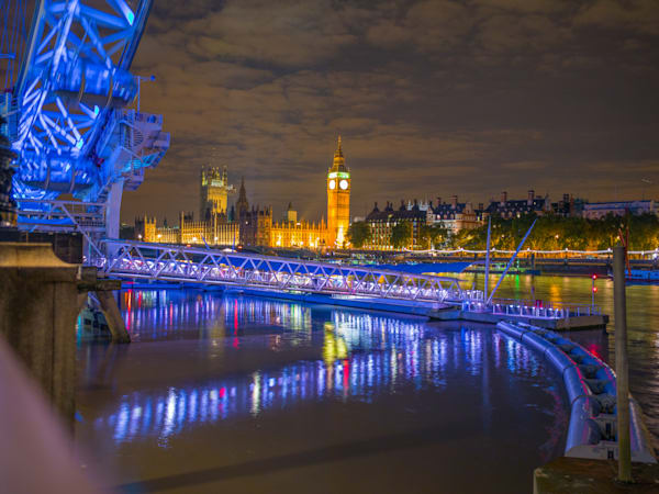 London Eye Curves | London Art Photography Print