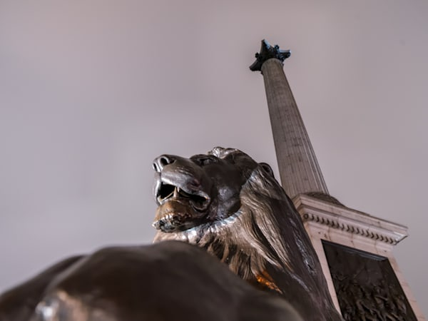 The Lion And Nelson | London Art Photography Print