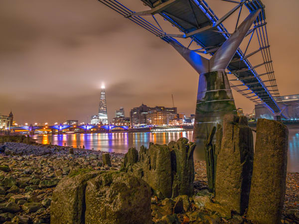 The Shard Under Millennium Bridge | London Art Photography Store