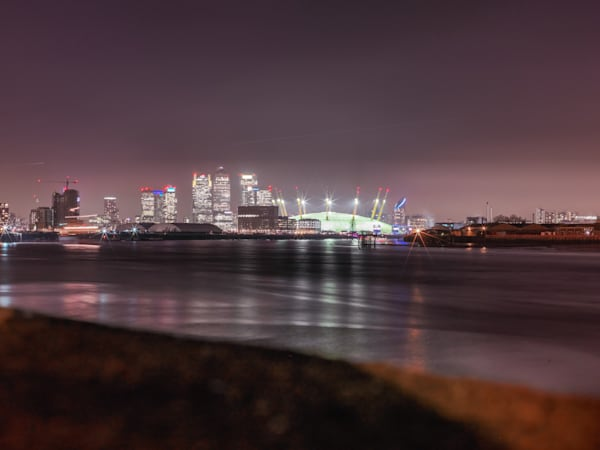 Canary Wharf Across The Thames | London Art Photography Store