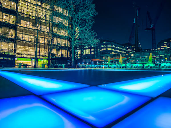 Finsbury Avenue Square Blue | London Art Photography Store