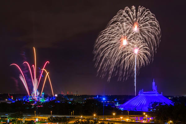 Magic Kingdom Fireworks 1 - Disney Art Gallery | William Drew