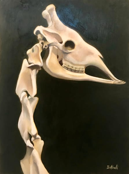 Giraffe Head   Original Art | Bottinelli Fine Art